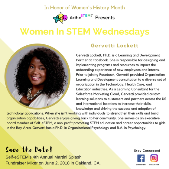 Women In Stem Wednesday's _ March 28th, 2018 (Instagram)